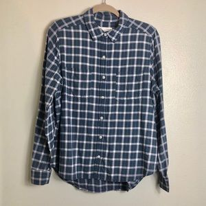 Universal Thread Blue and White Flannel